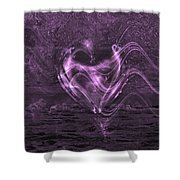 Flowing Heart Shower Curtain