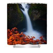 Flowing Into Fall Shower Curtain