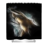 Flowing Nude 3689 Shower Curtain