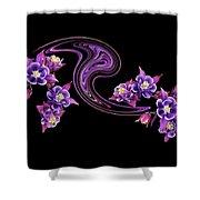 Flowing Purple Velvet 2 Shower Curtain