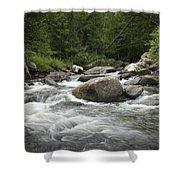 Flowing Stream In Vermont Shower Curtain