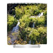 Flowing Water On Falling Lakes Of Plitvice Shower Curtain