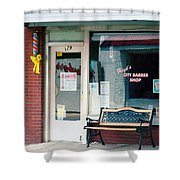 Floyd's Barber Shop Nc Shower Curtain
