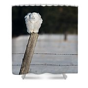 Fluff Cycle Snowy Shower Curtain