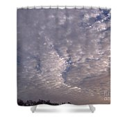 Fluff In The Sky Shower Curtain