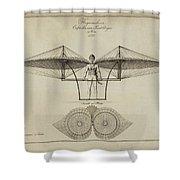 Flugmashine Patent 1807 Shower Curtain