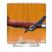 Fluid Dynamics Shower Curtain