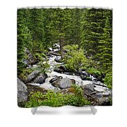 Fluid Motion - Crazy Woman Canyon - Crazy Woman Creek - Johnson County - Wyoming Shower Curtain