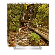 Flume Gorge At Franconia Notch Shower Curtain