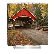 Flume Gorge Covered Bridge Fall Colors Shower Curtain