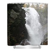 Flume Gorge Waterfall In Autumn Shower Curtain