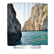 Fluorescent Waters Shower Curtain