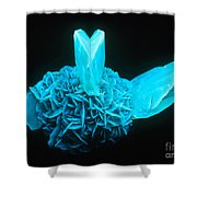 Fluorescing Selenite Gypsum Shower Curtain
