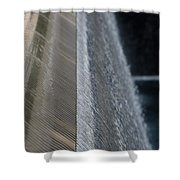 Fluted Water Shower Curtain