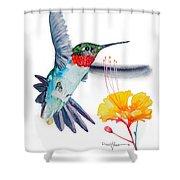 Da177 Flutter By Daniel Adams Shower Curtain