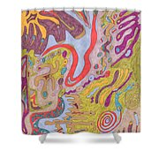 Flutterfly Land Shower Curtain