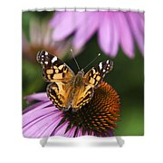 Fluttering Breeze Butterfly Shower Curtain by Christina Rollo