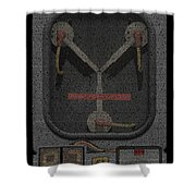 Flux Capacitor Mosaic Shower Curtain