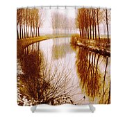 Flowing Its Course Shower Curtain