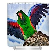 Fly And Shine Shower Curtain