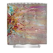 Fly Away Abstract Painting Shower Curtain