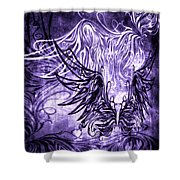 Fly Away Gothic Grape Shower Curtain