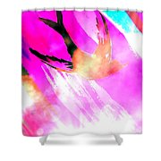 Fly Away Home Abstract Shower Curtain