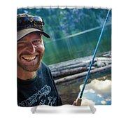 Fly Fishing Emerald Lake, Weminuche Shower Curtain