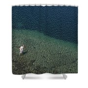 Fly Fishing In Alpine Lake Shower Curtain