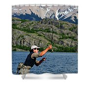 Fly Fishing In Patagonia Shower Curtain