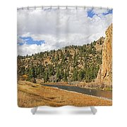 Fly Fishing The Big Hole River Montana Shower Curtain