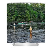 Fly Fishing West Penobscot River Maine Shower Curtain