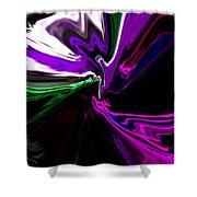 Purple Rain Homage To Prince Original Abstract Art Painting Shower Curtain