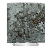 Fly On The Wall Shower Curtain by Jack Zulli