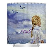 Fly With Us Shower Curtain