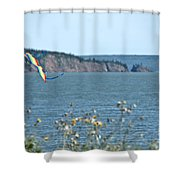 Flying A Kite On The East Coast Shower Curtain