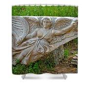Flying Angel In Ephesus-turkey Shower Curtain