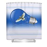 Flying Around The Globe Shower Curtain