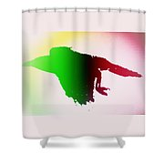 This Crow Is Flying Away And Will Never Return  Shower Curtain
