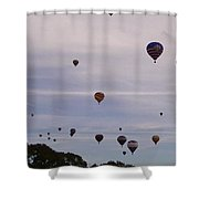 Flying Balloons Shower Curtain