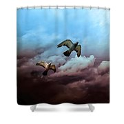 Flying Before The Storm Shower Curtain