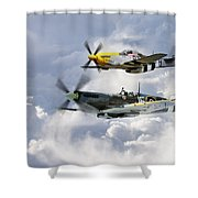 Flying Brothers Shower Curtain
