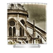 Flying Buttress At Notre Dame Shower Curtain