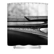 Flying Cadillac  Shower Curtain