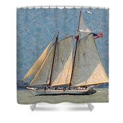 Flying Cloud Shower Curtain