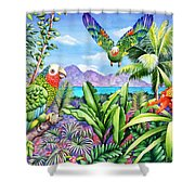 Flying Colours Shower Curtain by Carolyn Steele