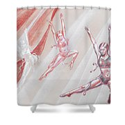 Flying Dancers  Shower Curtain