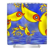 Jumping Fantasy Animals Shower Curtain