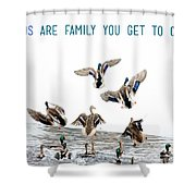 Flying Ducks And A Friends Quote Shower Curtain