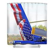 Flying Flag Shower Curtain